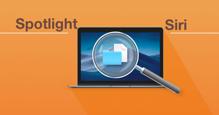 Search for files through Spotlight or Siri