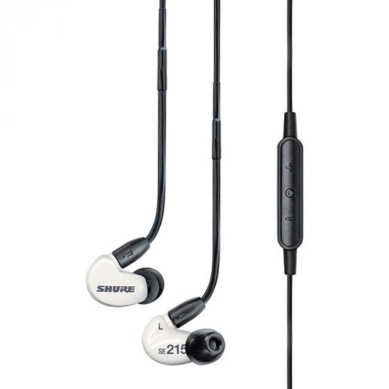 Shure SE215M+-SPE-E Sound Isolating Earphones, Clear