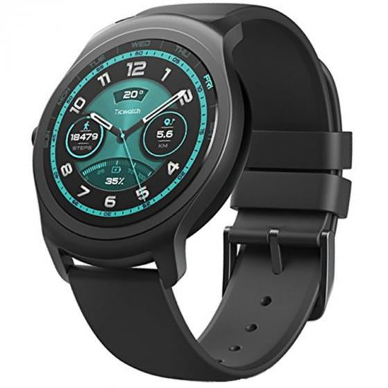 Ticwatch 2 Active Onyx Smart Watch for iOS and Android Devices