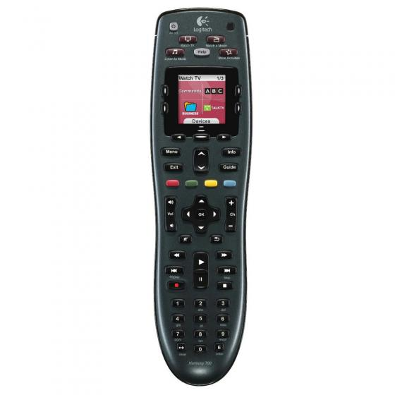 Logitech Harmony 700 (915-000162) Rechargeable Remote with Color Screen (Black)