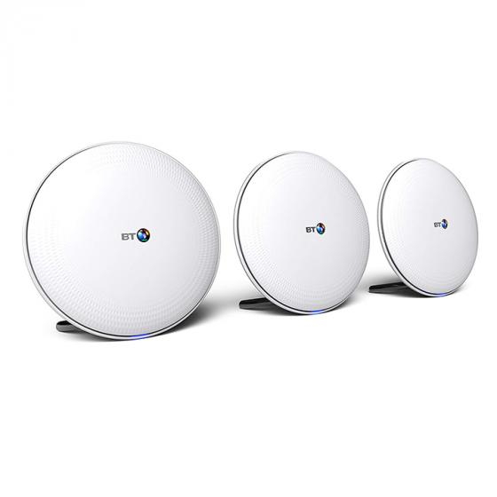 BT Whole Home Wi-Fi Mesh for seamless, speedy (AC2600) connection, App for complete control (Pack of 3)