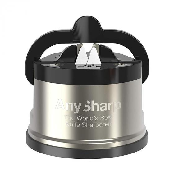 AnySharp Knife Sharpener Pro Brushed Stainless