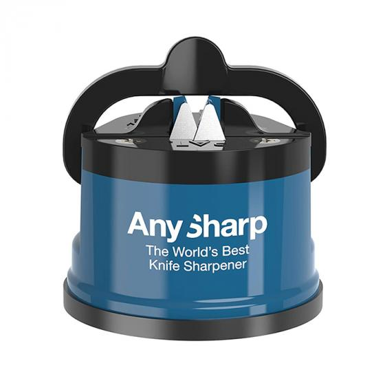 AnySharp Knife Sharpener Classic with PowerGrip, Blue