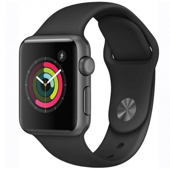 Apple Watch Series 1 Space Grey Aluminium Case with Black Sport Band