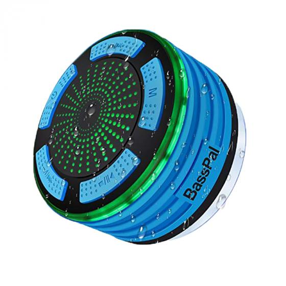BassPal Shower Speaker (BP-F013-B) IPX7 Waterproof Portable Wireless Bluetooth 4.0 Speaker