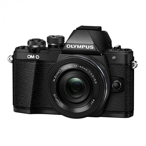 Olympus OM-D E-M10 Mark II Compact System Camera in Black + 14-42 EZ Lens