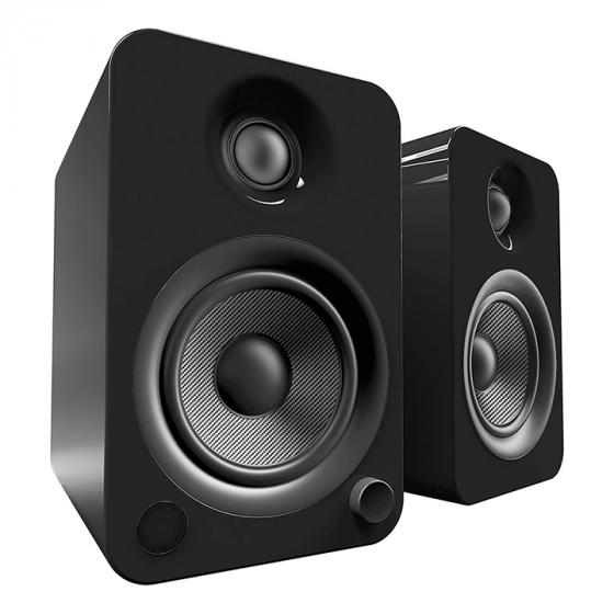 Kanto YU4 Powered Speakers with Bluetooth® and Phono Preamp, Gloss Black