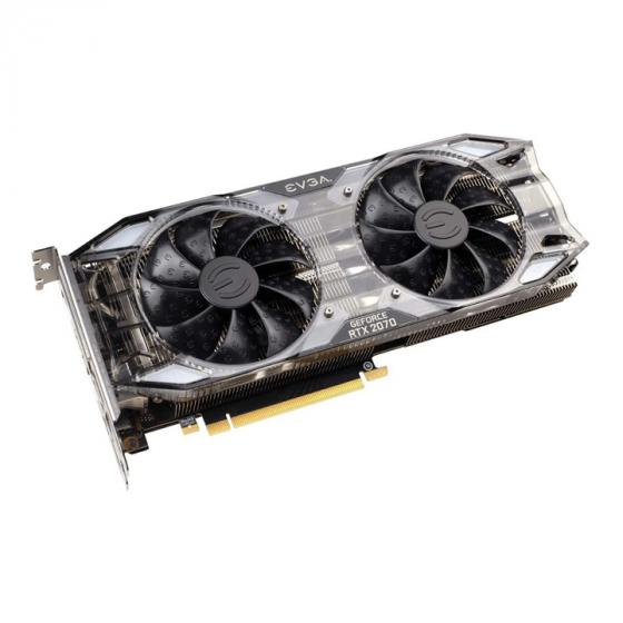 EVGA GeForce RTX 2070 XC Gaming 8GB GDDR6, Dual HDB Fans & RGB LED Graphics Card
