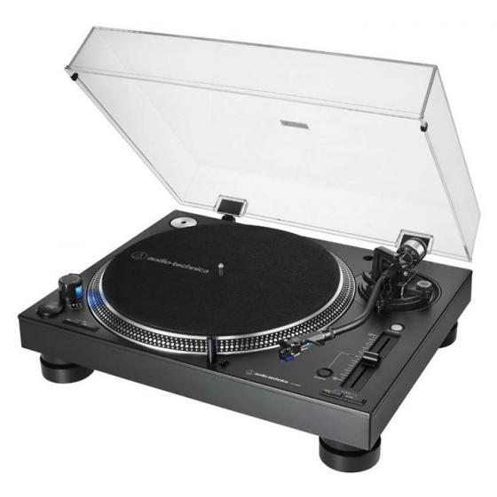 Audio-Technica AT-LP140XP Professional DJ Direct-Drive Turntable Deck (Black)