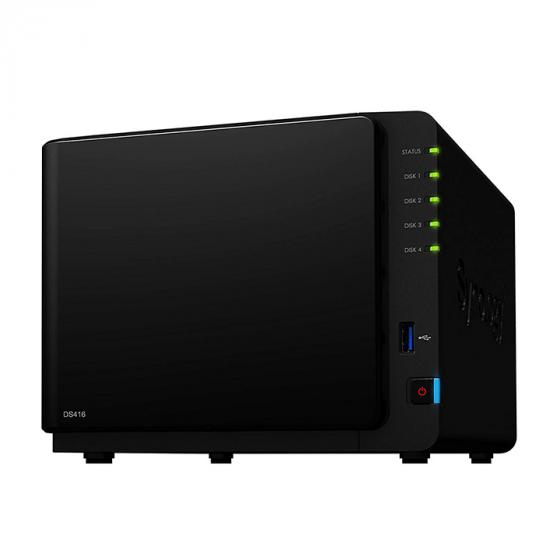 Synology DS416 4TB (4 x 1TB WD RED) 4 Bay Desktop NAS Unit