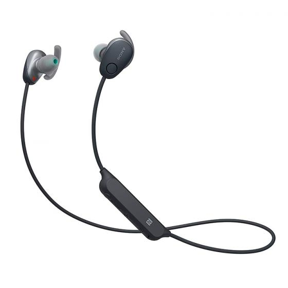 Sony WI-SP600N Wireless Sports Headphones with Noise Cancelling and IPX4 Splash Proof - Black