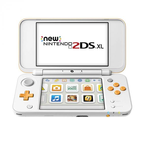 Nintendo 2DS XL New Nintendo - White and Orange