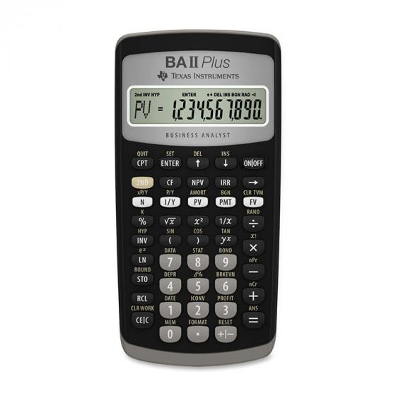 Texas Instruments BA II Plus Calculator (Pocket, Finance, Black, Buttons, Battery)
