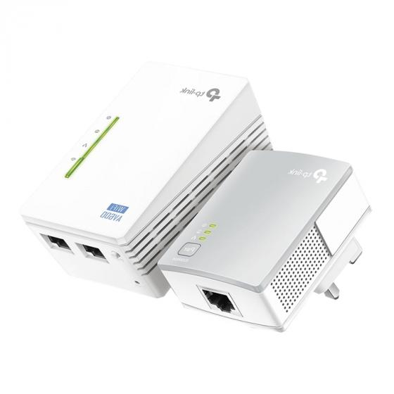 TP-LINK TL-WPA4220KIT 2-Port Powerline Adapter / Range Extender / WiFi Extender (N300)