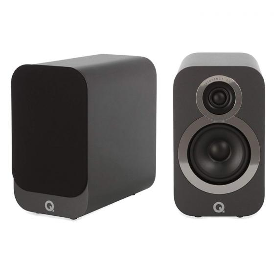 Q Acoustics 3010i Compact Bookshelf Speakers (Pair) (Graphite Grey)