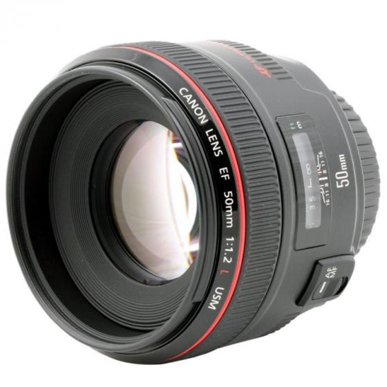 Canon EF 50mm f/1.2 L USM Lens, Black