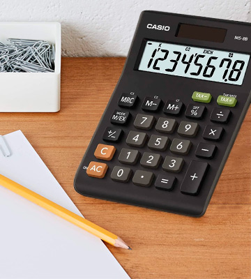 Review of Casio (MS-8B) Standard Function Desktop Calculator