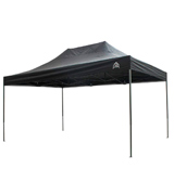 AllSeasonsGazebos Metal-Textile 3x4.5m, Heavy Duty, Fully Waterproof, PVC Coated, Premium Pop Up Gazebo + Carry Bag With Wheels & 4 x Superior Leg Weight bags