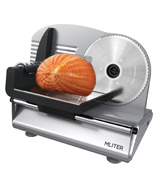 MLITER 19cm Stainless Steel Blade 150W Electric Food Slicer