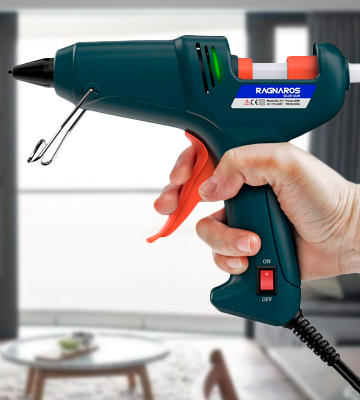 Review of RAGNAROS Glue Gun 60W Thermostat Hot Melt Glue Gun, Rapid Preheating