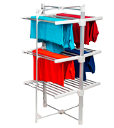 HOMEFRONT Electric Heated Clothes Airer Deluxe EcoDry 3-Tier /Dryer Rack Indoor Drier