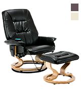 More4Homes (tm) TUSCANY Bonded Leather Recliner Massage Chair