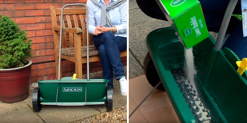 Review of EverGreen Easy Spreader Plus Designed for the easy application of EverGreen lawn treatment products and grass seed