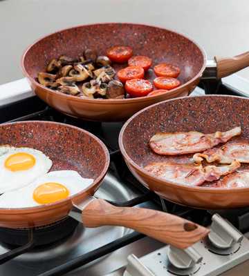 Review of JML Set of 3 Copper Stone Frying Pans
