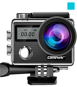Campark X20 Action Camera (4K, 20MP, EIS, Touch Screen, Waterproof)