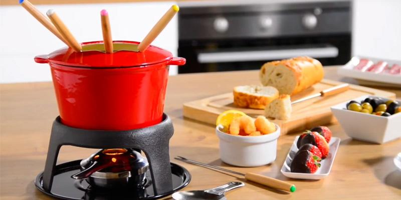 KitchenCraft Cast Iron Fondue Set in the use