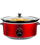 Andrew James 6.5 Litre Premium Slow Cooker with Tempered Glass Lid