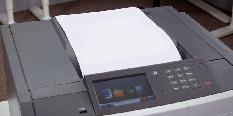 Lexmark CS517de Colour Laser Printer in the use