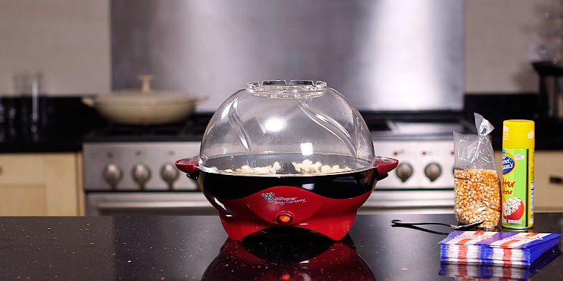 Review of JM Posner Simply Entertaining Home Halogen Popcorn Maker