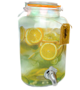 Smith's Mason Jars Drinks Dispenser with Steel Spigot