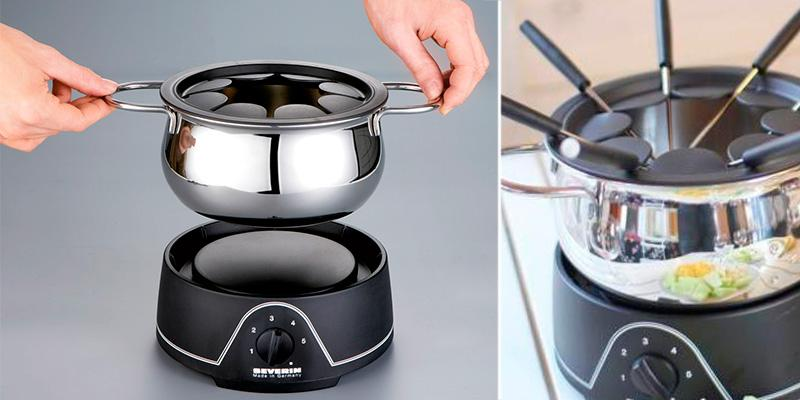 Severin FO2400 Electric Fondue Set in the use