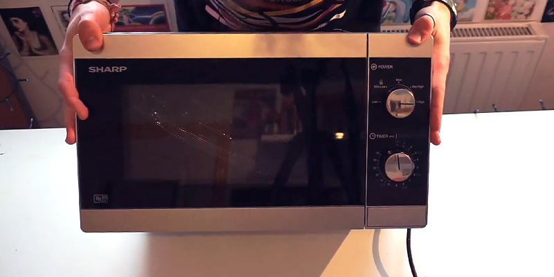 Sharp YC-MS01U-S Solo Microwave Oven in the use