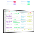 Smart Panda Action Plan Magnetic Whiteboard A3