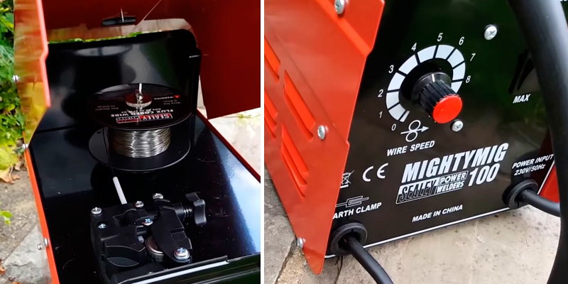 Sealey MIGHTYMIG100 Professional Mig Welder in the use
