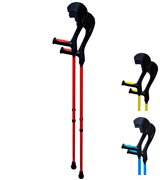 HMS Vilgo Non-Slip Adjustable Colourful Crutches