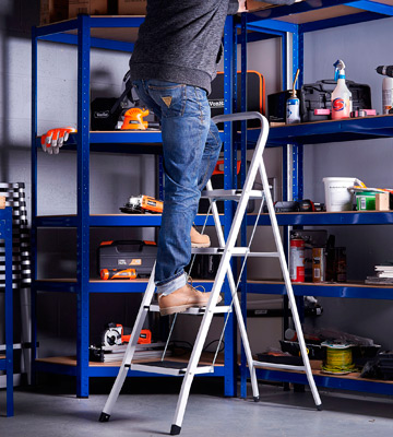 Review of Home Vida 333137 Steel Portable Folding Heavy Duty Ladder