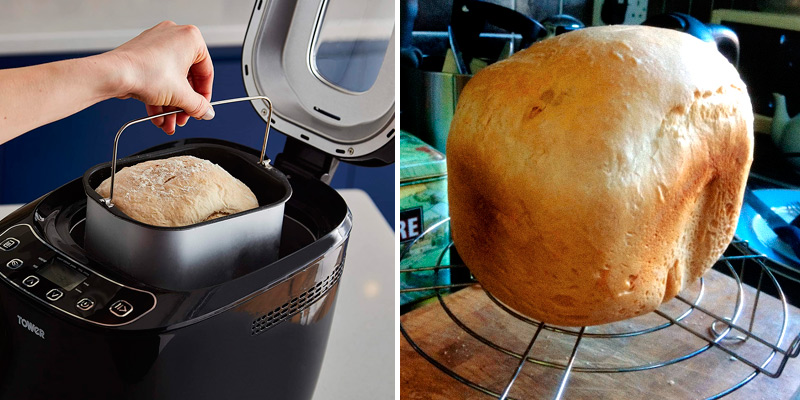 Tower T11003 Digital Bread Maker with 12 Automatic Programs in the use