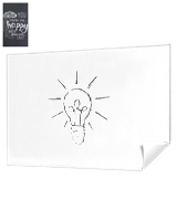 Rabbitgoo DTHBT001W Whiteboard Sticker Self Adhesive 199x44.5cm