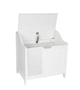 Home Discount Laundry Bin Wooden Priano Bathroom Cabinet Storage Cupboard