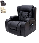 More4Homes (tm) CAESAR 10 IN 1 Leather Recliner Chair Rocking Massage