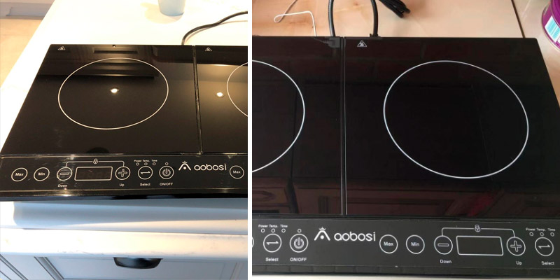 Aobosi FYM28-S05 Double Induction Hob in the use