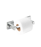 Home Treats Toilet Roll Holder Square Bathroom Bar