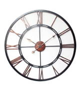 DOWNTON INTERIORS COPPER WALL CLOCK LARGE VINTAGE ANTIQUE