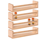 IKEA 4 racks BEKVAM Wooden Spice Rack