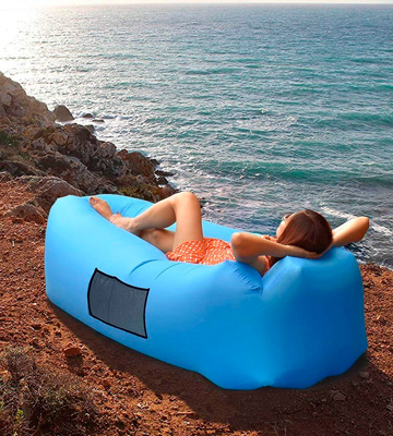 Review of AngLink Inflatable Lounger Portable Air Sofa Couch bed Nylon Waterproof