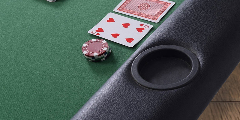 Review of Costway 8 Players Foldable Poker Table Top with Drink Holders
